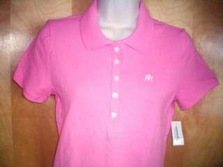 NEW womens juniors pink AEROPOSTALE polo shirt size L