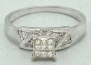 NATURAL 0.54 CARATS DIAMONDS RING 14K WHITE GOLD