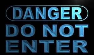 m645 b Danger Do Not Enter Neon Light Sign