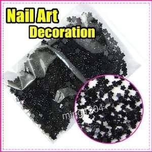 New Mini Black Flowers Nail Art 3d Decoration 263 Beauty