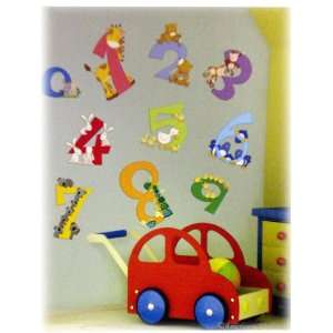 New Animal Numbers Kids Room Wall Mural Sticker Wallies