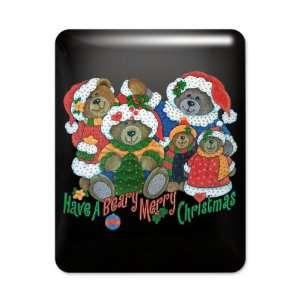 iPad Case Black Have A Beary Merry Christmas Bears