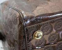 Michael KORS Grayson COCOA Mirror Monogram LARGE SATCHEL Bag $298