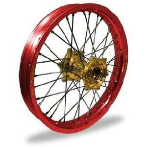 Pro Wheel Pro Wheel 4.25x17 Super Moto Rear Wheel   Gold Hub/Red Rim