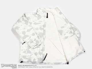 S2 0528 A BATHING APE COLOR CAMO FLEECE STAND COLLAR JACKET   WHITE