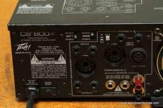 PEAVEY CS800X CS 800X PROFESSIONAL STEREO POWER AMPLIFIER
