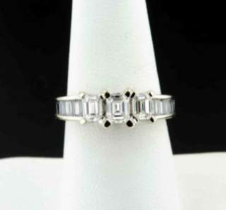 Carat Emerald Cut Diamond 3 Stone Engagement Wedding Ring 14K