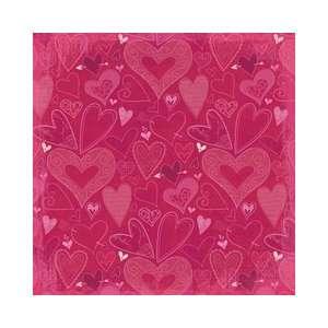 Valentine Flat Paper 12X12 Hearts A Flutter Arts, Crafts & Sewing