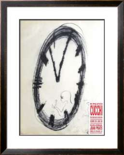 Galeria Joan Prats 1989 Limited Edition Framed Print by Enzo Cucchi at