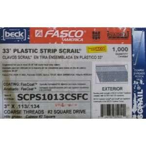Fasco SCPS1013CSFC 3 inch .113 FasCoatTM Coarse Thread Square Head