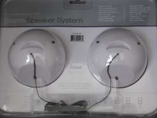 NEW WHITE IWAVE STORM 2W SPEAKER SYSTEM IPOD STEREO