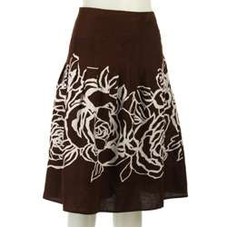 John Paul Richard Plus Size A line Printed Skirt