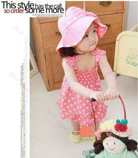 Kids 3pcs Girl Baby Braces Skirt + Pants + Hat Set Cotton Costume
