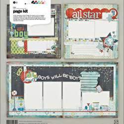 Basic Grey Oliver Page Kit 12x12 in Layouts