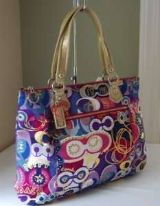 228 Coach 18342 Poppy Pop C Glam Tote