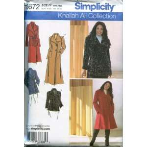 SIMPLICITY PATTERN 3672 WOMENS PETITE COAT OR JACKET, EACH IN TWO