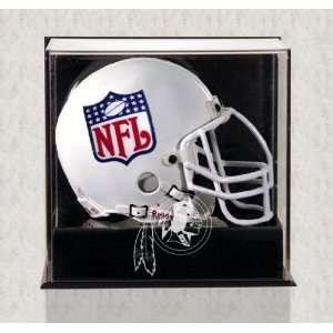 Wall Mounted Redskins Logo Mini Helmet Display Case