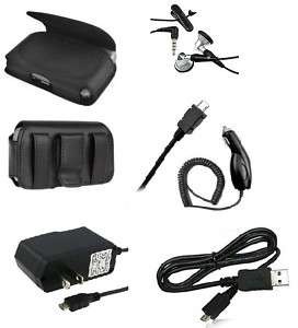 PC ACCESSORY KIT SET HEADSET CASE CAR CHARGER FOR VERIZON SAMSUNG