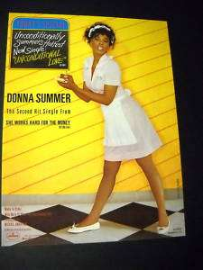 DONNA SUMMER 1983 Promo Poster Ad UNCONDITIONAL LOVE