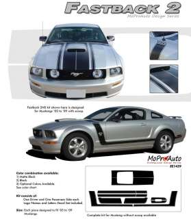 Mustang   MoProAuto Pro Design Series Vinyl Graphics and Decals Kit