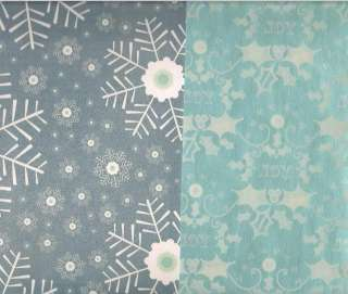 Scrapbook paper 12x12 textured Christmas Holiday Snow |