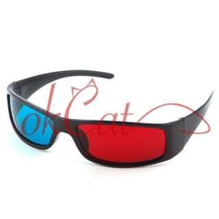 Red Blue Cyan Plastic Framed 3 D Dimensional 3D Glasses