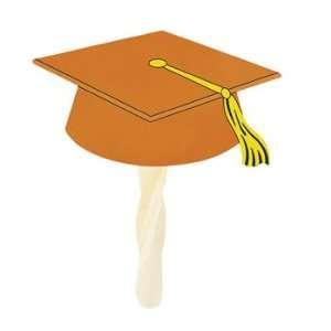 Orange Graduation Cap Fans   Party Themes & Events & Party
