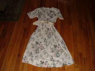 womens P Talbots Petite Collection Short Sleeve dress/Belt Light