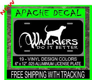 WALKER HOUND LICENSE PLATE,Coon Hunting decal,Coon Hound,Walkers