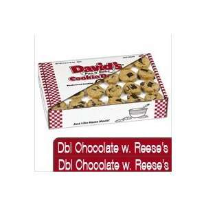 Davids Cookies 120302 Pre Formed Frozen Cookie Dough Dbl choc with