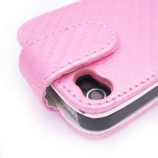 pink Leather Case Pouch Cover For APPLE IPHONE 4 4G
