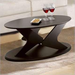Nexera Boomerang Fine Textured Oval Coffee Table 687174996508