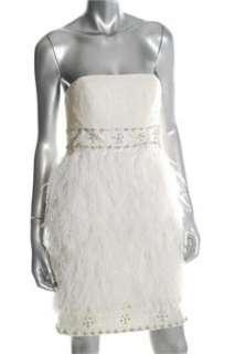 Sue Wong NEW Ivory Cocktail Dress BHFO Embellished 2