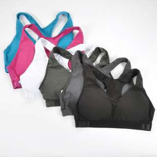 Uplift no Wire Racer back High Impact Sport Bra 8 colors S M L XL