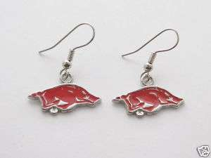 Arkansas Razorbacks Red Hogs Earrings Jewelry UA