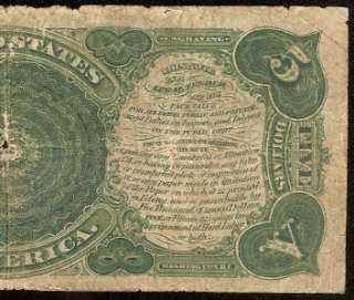 1907 $5 DOLLAR BILL LEGAL TENDER UNITED STATES RED SEAL NOTE