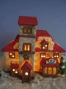 OLD WORLD VILLAGE CHRISTMAS HOUSE TOY SHOPPE WILL GO WITH LEMAX OR