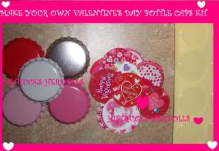 15 VALENTINES DAY BOTTLECAP 1 EPOXY STICKER KIT IMAGES