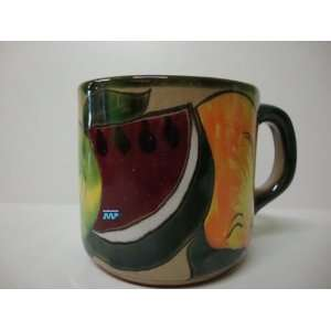 Mexican Talavera Ceramic Pottery Coffee Mug Cup Mexico Art Decor Hand