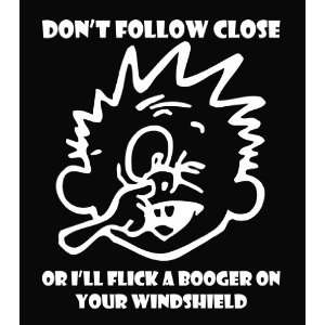 Calvin   Flick a Booger Die Cut Vinyl Decal Sticker 6
