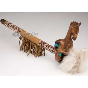 Native American Beaded Antler Pipe 20   Horse (p78