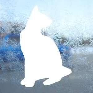 Siamese Cat Pet White Decal Car Laptop Window Vinyl White Sticker