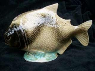 VINTAGE BRAZIL PIRANHA FISH STATUE AQUARIUM TANK FIGURINE ORNAMENT G/W