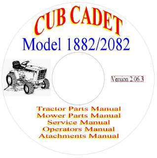 Cub Cadet 1882/2082 Parts, Service & Operators Manuals