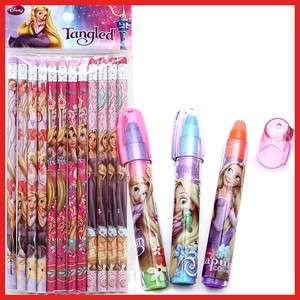 Princess Tangled Rapunzel Pencil Fragrance Eraser 15pc Stationery Set