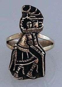 Native American Hopi Deer Kachina Ring Size 6