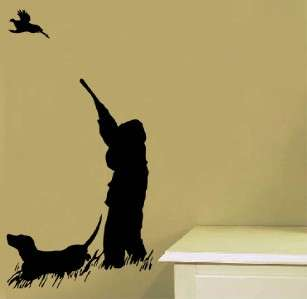 Vinyl Wall Art Decal Lodge Decor Pheasant Bird Hunting