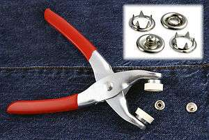Easy Press Snap Fastener Pliers with 108 Snap Pieces