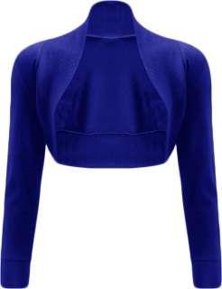 New Ladies Shrug Long Sleeved Bolero Top Womens Szs8 14