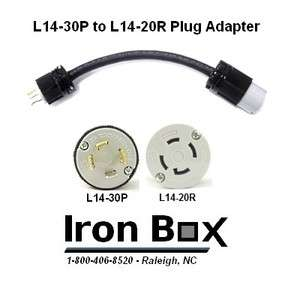L14 30P to L14 20R Generator Power Cord Plug Adapter, 1 Foot